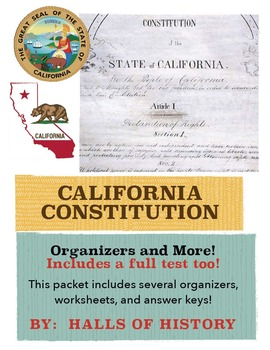 California Constitution - Organizers and More!
