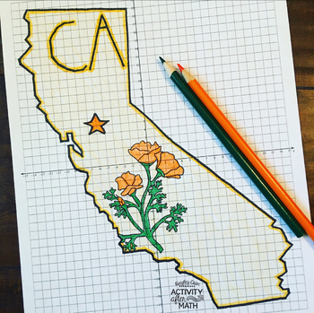 California Coordinate Graphing Mystery Picture 1st Quadrant & ALL 4 Quadrants