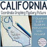California Coordinate Graphing Picture 1st Quadrant & ALL 4 Quadrants