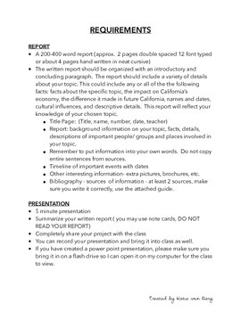 California Expert Report and Presentation Packet