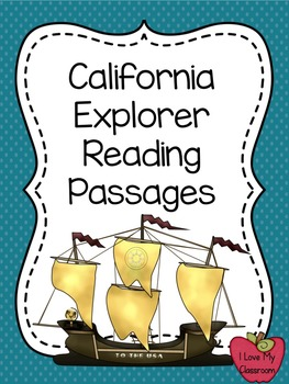 California Explorers Bundle: Reading Passages and Writing Pack