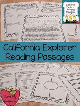 California Explorers Reading Passages {Cabrillo, Drake, and Vizcaino}