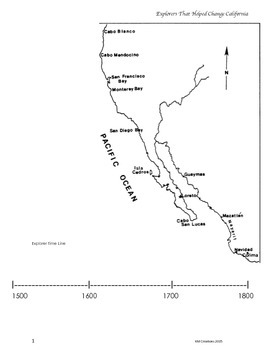 California Explorers Research and Timeline