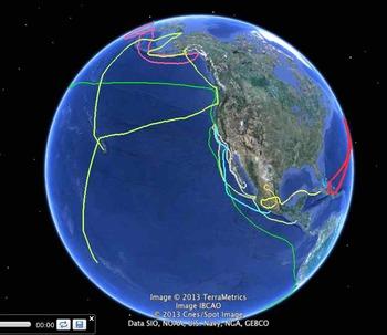 California Explorers Timeline