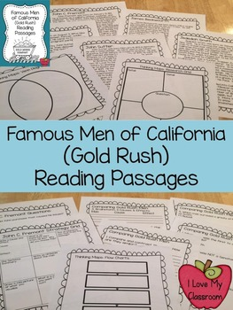 California Famous Men of the Gold Rush Reading Passages