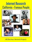 California Famous People (One-hour Internet Research Projects)