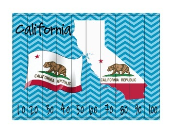 California Flag Map Counting Puzzles