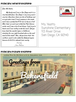 California Four Regions Postcard Project