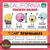 California Fourth Grade I Can Statements