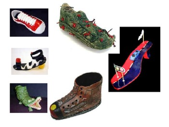 California Funk Art Style Clay Shoes
