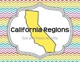 California Regions- Cut and Paste Activity