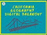 California Geography Digital Breakout Escape Room