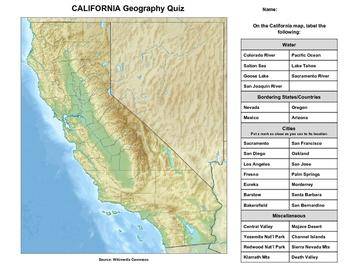 California Geography Quiz