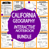California Geography–8 Mapping Lessons, 11 Mapping Activities + Travel Brochure