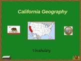 California Geography: Vocabulary