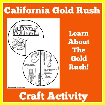 California Gold Rush Activity | Westward Expansion Unit | Gold Rush Craft