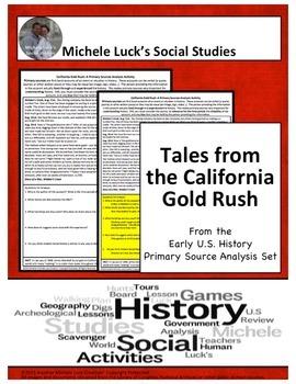 California Gold Rush American Document Analysis Activity