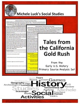 California Gold Rush American New Frontier Document Analysis Activity