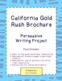 California Gold Rush Brochure *Persuasive Writing Project*