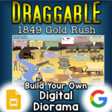 California Gold Rush - Digital Draggable Diorama