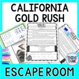 California Gold Rush ESCAPE ROOM Activity - Westward Expansion