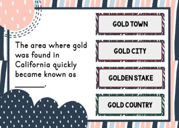 California Gold Rush Escape Room and Boom Cards™ BUNDLE by