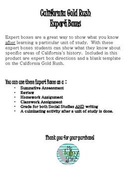 California Gold Rush Expert Boxes