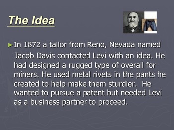 California Gold Rush Famous Person's Biography- Levi Strauss