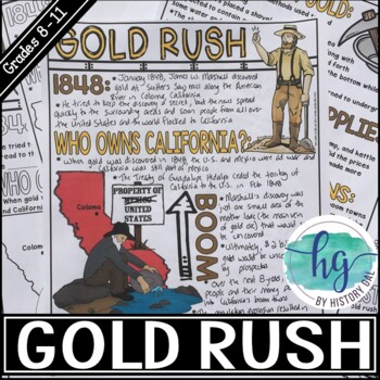 California Gold Rush Doodle Notes