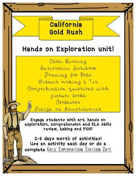 California Gold Rush- Hands on Exploration Stations/Unit