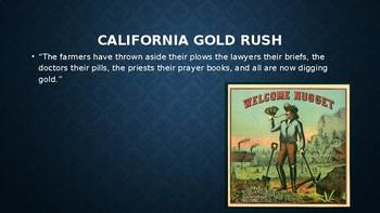 California Gold Rush Lesson
