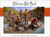 California Gold Rush Power Point (powerpoint) WITH video clip - panning for gold