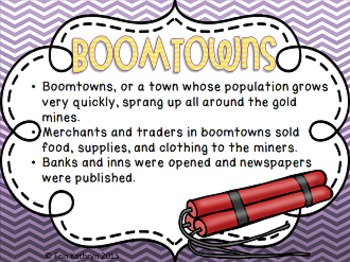 California Gold Rush PowerPoint and Note Set