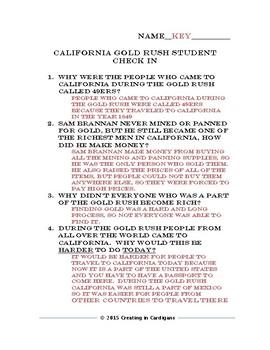 California Gold Rush Quiz