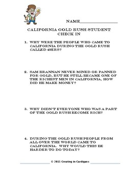 California Gold Rush Quiz