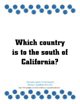 California Google It! Reader ~ 330 Questions & Answers ~ History and Fun