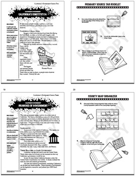 California Government Bundle of 9 COMPLETE Lessons