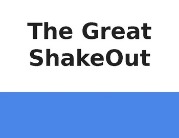California Great ShakeOut Book - Social Story - no pictures