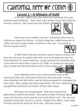 Gold Rush Unit (California, Here We Come!)