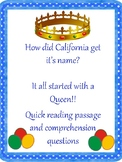California History - How did the state of California get its name?