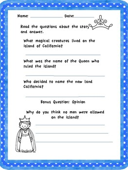 *California History - How did the state of California get its name?