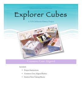 California History Explorers. A 3-D Project with Common Core Aligned Rubric
