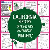 California History–Interactive Notebook California State Study Unit + AUDIO!
