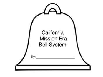 California History Mission Bell System Craftivity