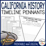 California History Timeline Activity | 4th Grade Project | Printable & Digital