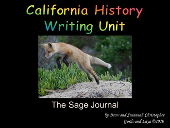 California History Writing Unit