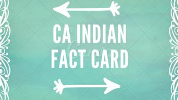 California Indian Fact Card
