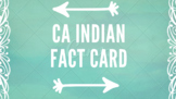 California Indian Fact Card