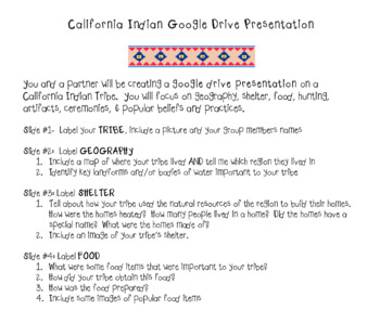 California Indian Google Drive Group Presentation