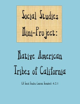 California Indians Mini Poster Project